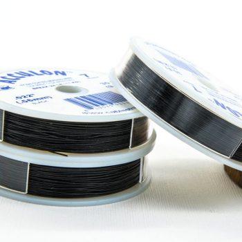 Black Wire, 0.51mm, 30 feet, Jewelry Wire -W5