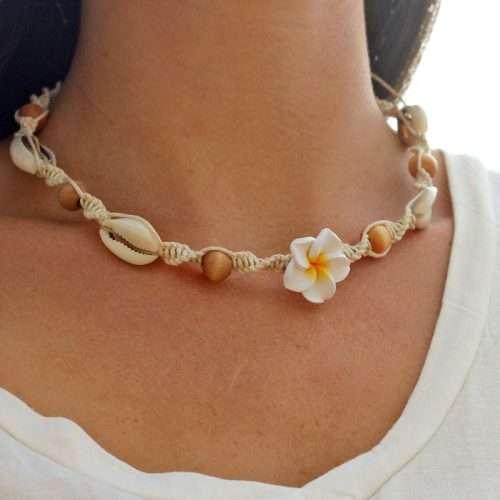 hemp flower necklace
