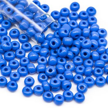 Czech Seed Beads, Glass Seed Beads, 6/0, Czech,  1 Tube, Blue -B2187