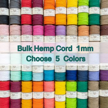 hemp cord 1mm from Hemp Beadery, choose the colors