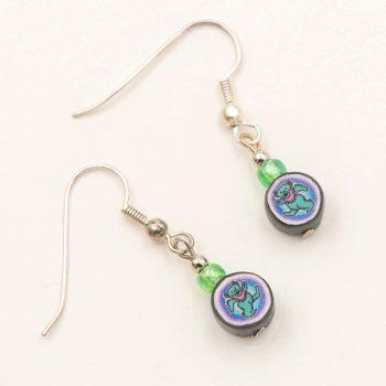 vintage earrings, vintage fimo