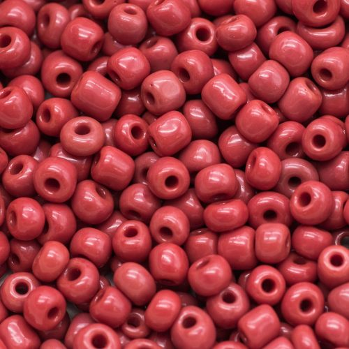 Red Glass Seed Beads,  3 Ounce bag,    4mm Seed Beads,  Brick Red, -B317