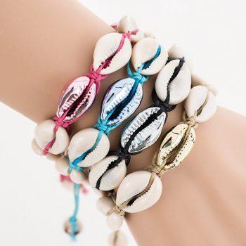 hemp cowrie shell bracelets, handmade to order