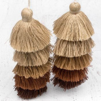 Brown Jewelry  Tassels, 1pc,  4 1/2 Inch,  Jewelry Pendants, Large Cotton  Tassels