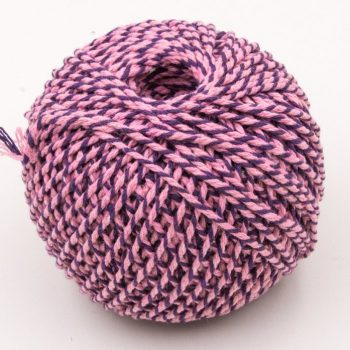 Cotton Bakers Twine, Pink and Purple,  2mm, 328 Feet, Packaging Twine, Gift Wrap -T89
