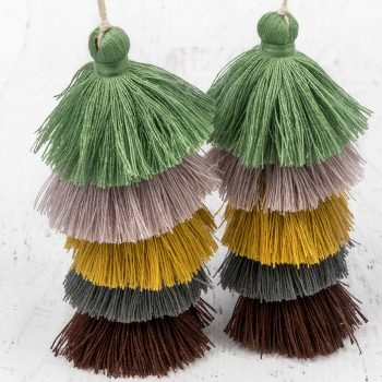 Long Jewelry  Tassels, 1pc,  4 1/2 Inch, 5 layer,  Tassel Pendants, Cotton Tassels