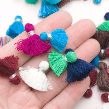 Mini Jewelry Tassels, 3/4  inch, 20pcs,  Bracelet Tassels, Cotton Tassels,  Mixed colors -TA27