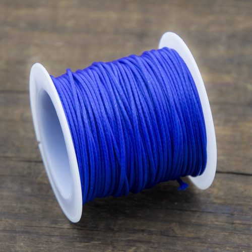 Blue Waxed Polyester Cord,  1mm, 10 Meter Roll, Jewelry Cord