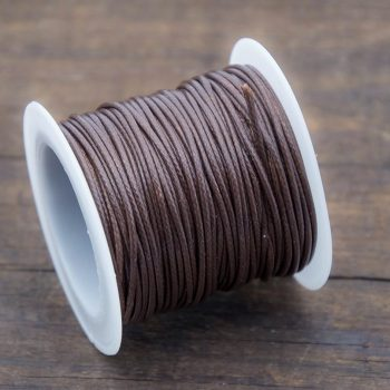 Brown Waxed Polyester Cord,  1mm, 10 Meter Roll, Jewelry Cord