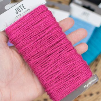 Jute String, Cord for Macrame, Hot Pink Craft Rope, 30 Yard card