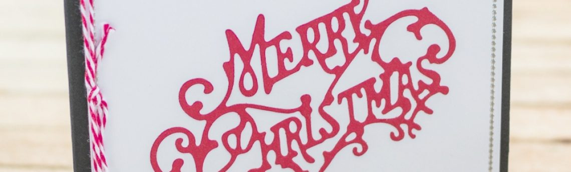 Red and White Merry Christmas Card