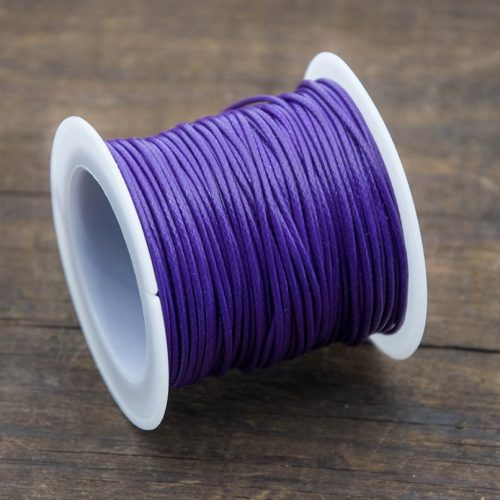Purple Waxed Polyester Cord,  1mm, 10 Meter Roll, Jewelry Cord