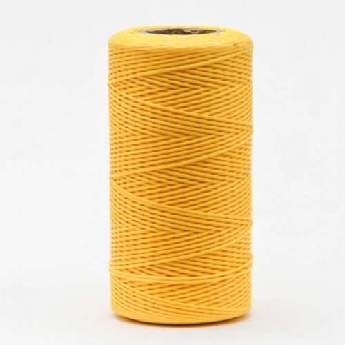 Yellow Flat Polyester Cord, 1mm  Waxed Cord, 250 Meter Roll,  Jewelry Cord