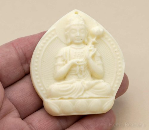 Buddha  Pendant, 1pc, 55x50mm,  Resin Pendant, Meditation Pendants  -P144