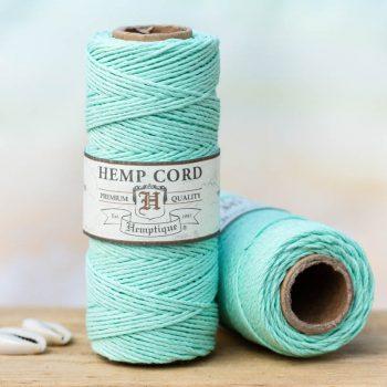 Seafoam Green hemp cord, perfect for beach style jewelry, hemp jewelry, scrapbooking and crafts.