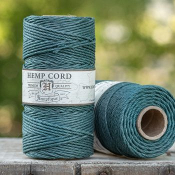 Hemp Cord  2mm,   205 feet,  48lb, Emerald, Thick Hemp String,  1 Spool
