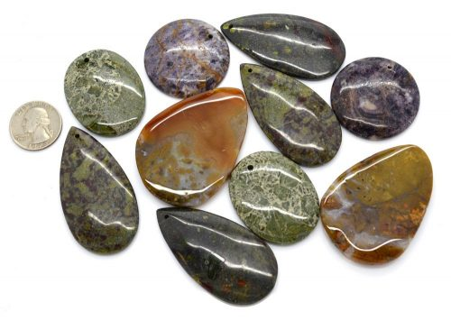 Stone Cabochon, 1pc, 57x41mm,  Polished Stone -P358