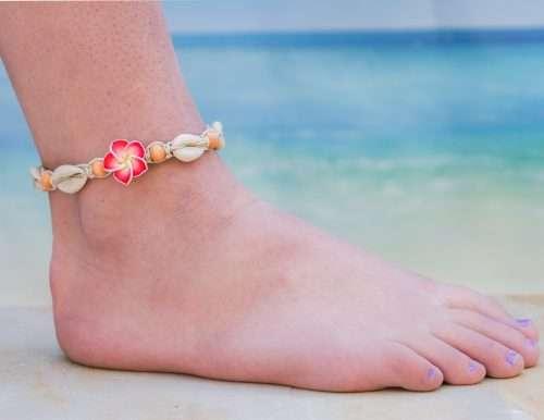 beach anklets, cowrie shells and wood beads, handmade hemp jewelry