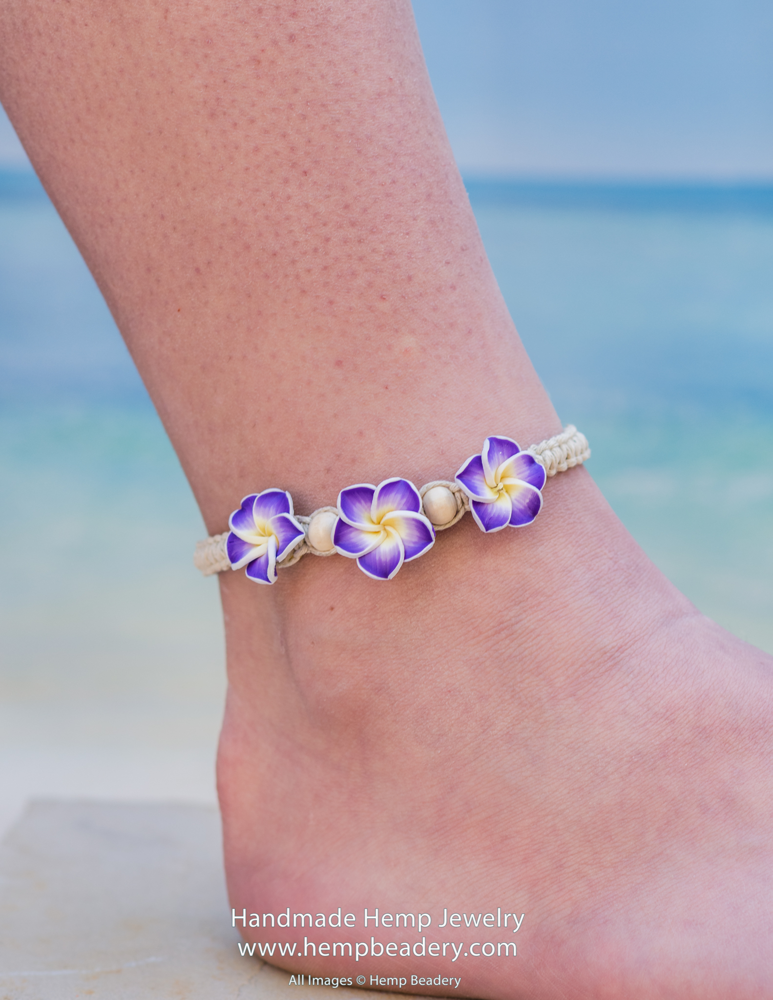 Purple Shell Anklet