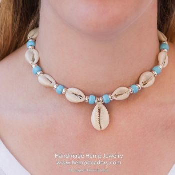 natural cowrie shell necklace, beach chokers, teen jewellery