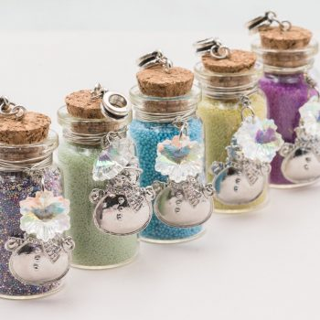 Glass Bottle Pendants, snowman charm, 5pcs,  40x20mm,   Cork Bottle   -P356