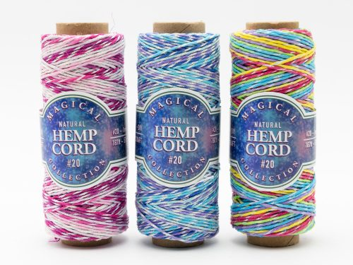 Magical Hemp  Cord Collection metallic thread, eco friendly craft twine