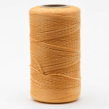 Polyester Cord, 1mm Flat Waxed Cord, 250 Meter Roll, Peach,  Jewelry Cord