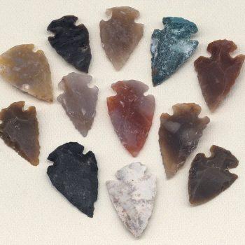 Arrowhead Charms, 12pcs, Stone  Arrow Pendant mini size   -BN104