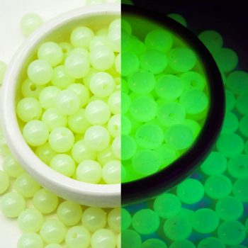 Luminous UV  Beads, 10mm, 50pcs, Glow Beads, Party Beads, UV Beads, Glow In The Dark -B2167