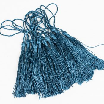 15 Long Jewelry Tassels,   3 1/2 Inch,   Craft Tassel, dark teal, craft supply  -TA42
