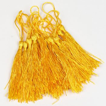 15 Yellow   Tassels,  3 1/2 Inch long necklace Tassels, sewing  trim  -TA43