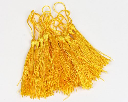 15 Yellow   Tassels,  3 1/2 Inch long necklace Tassels, sewing  trim  -TA43