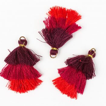 3 Small  Tassels,   1 3/4 Inch,  Cotton Tassel for earrings -TA54