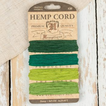 Green Hemp Twine, 1mm, Hemp Card, Green Cord, Macrame Cord