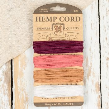 Hemp Cord 1mm, Coral Reef, Hemp Twine, Hemp String