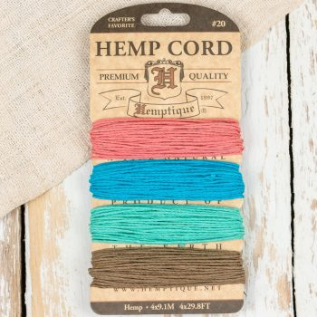 Hemp Twine, 1mm, Craft Cord, Hemp Sample Card, New Mexico