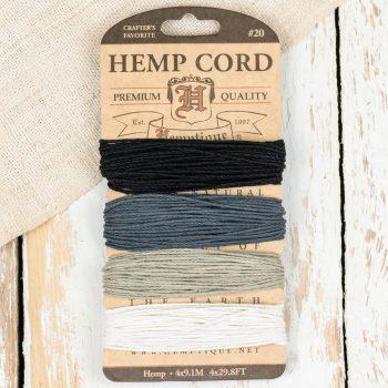 Onyx Hemp Card, Black Hemp Cord, Craft Twine