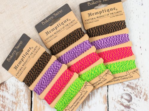 Cotton Bakers Twine, 4 colors sample card, 120 Feet,  Fiesta