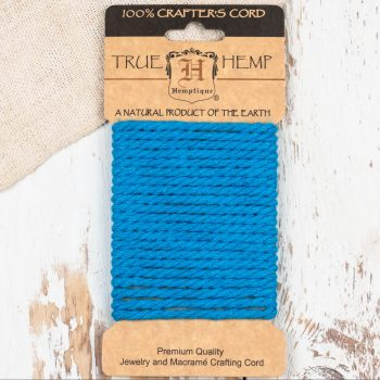 Dyed Hemp Rope, 4mm Blue Twisted Rope For Crafts and Jewelry