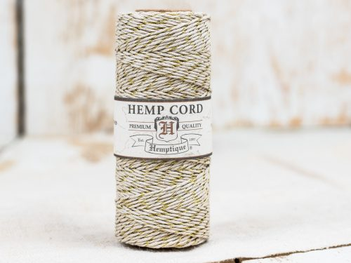 Gold Bakers Twine, Natural  Hemp Cord, 1mm 20lb, 205 feet spool