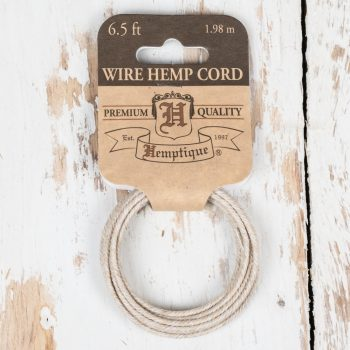 Hemp Wire Cord, 6.5 Feet, Wire Coil, Jewelry Wire, Natural Hemp Product