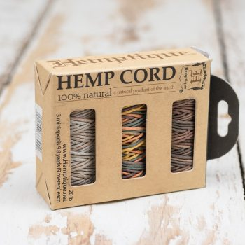Natural Hemp Cord 1mm, Gift Box,  b - 3 mini spools