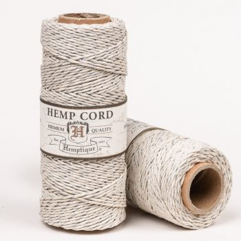 Silver Hemp Bakers Twine, Natural  Hemp String, 1mm 20lb, 205 feet spool
