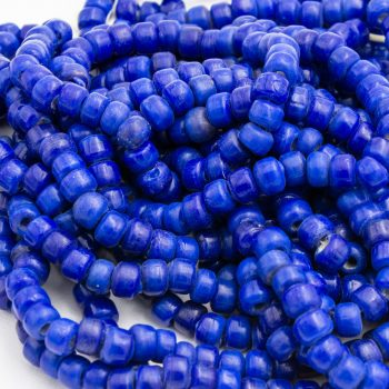 Blue Pony  Beads,  3mm Hole, Glass Beads From India  - 100 piece strand  -B2854