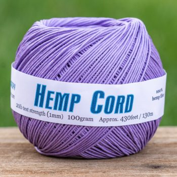 Hemp  Cord, 1mm, 430 Feet, Lavender   Macrame Cord,    Jewelry Cord