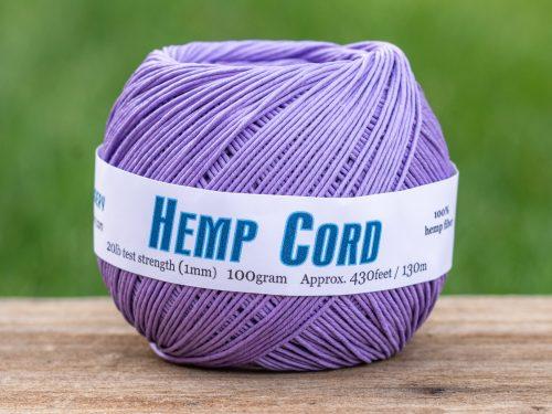 Hemp  Cord, 1mm, 430 Feet, Lavender   Macrame Cord,    Jewelry Cord