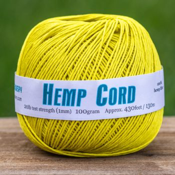 Hemp Cord Yellow, 1mm, 430 Feet, Macrame Cord, Yellow String