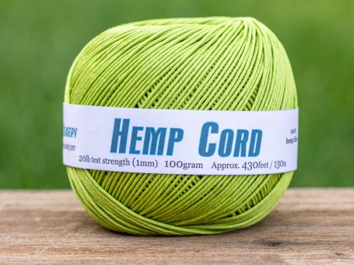 Lime Green Hemp Cord 1mm, Soft Hemp Twine for Jewelry Making, crochet