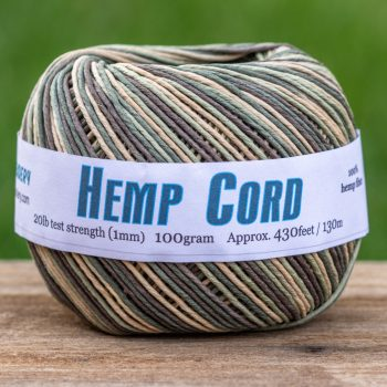 Macrame Cord Camo,   1mm,  430 Feet,   Dyed Hemp  Ball