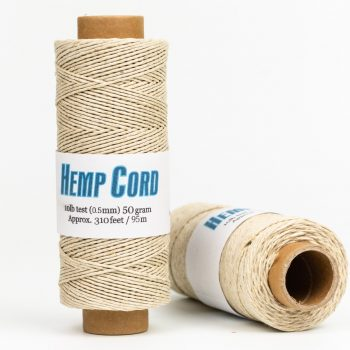 Natural Hemp Cord 10lb,  310 Feet spool, macrame cord